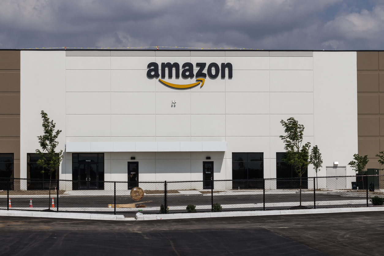 Amazon Receiving Center Under Construction. Amazon.com Is The Largest Internet Based Retailer In The US And Celebrates Prime Day Every Year